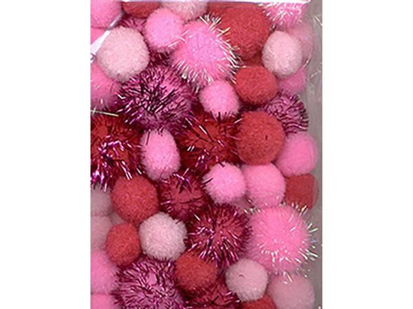 Bilde av Pomponger sett m/glitter – Rosa- 50ass