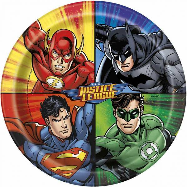 Bilde av Justice League Tallerken, 8 stk