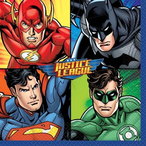 Bilde av Justice League Servietter 2, 16 stk