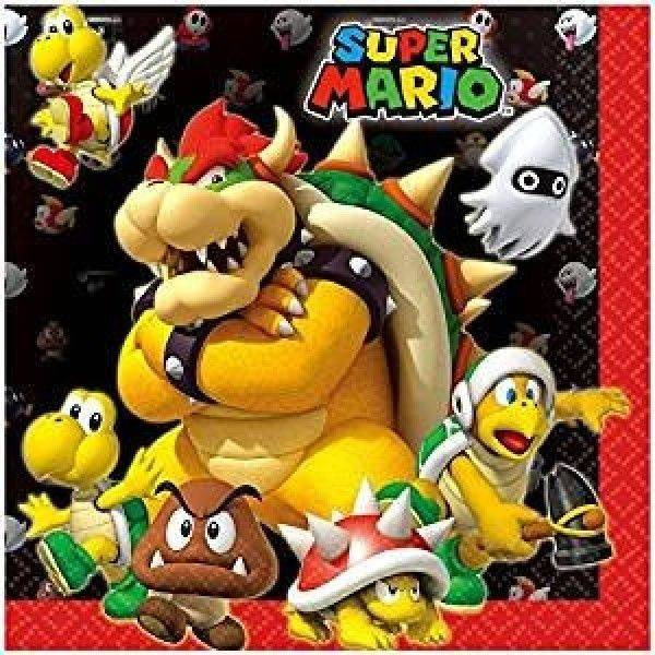 Bilde av Super Mario, Servietter, 16 stk
