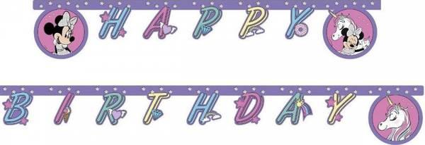 Bilde av Minnie Og Enhjørning Happy Birthday Banner
