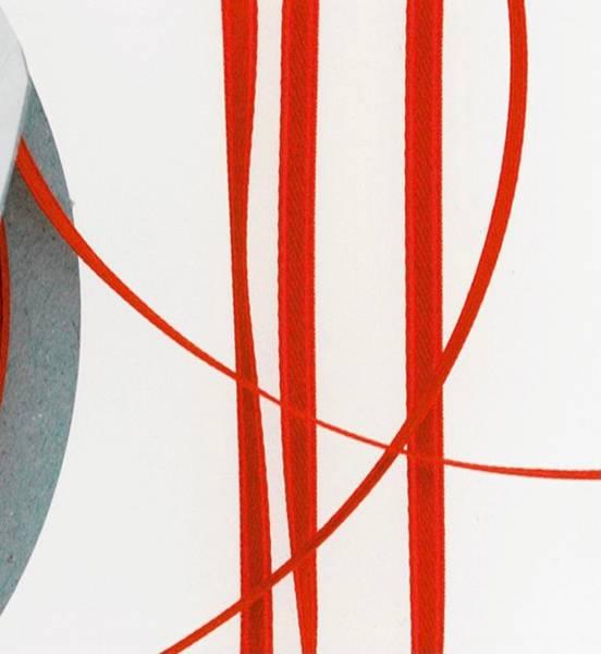 Bilde av Satinbånd 3mm – Rød – 1 meter