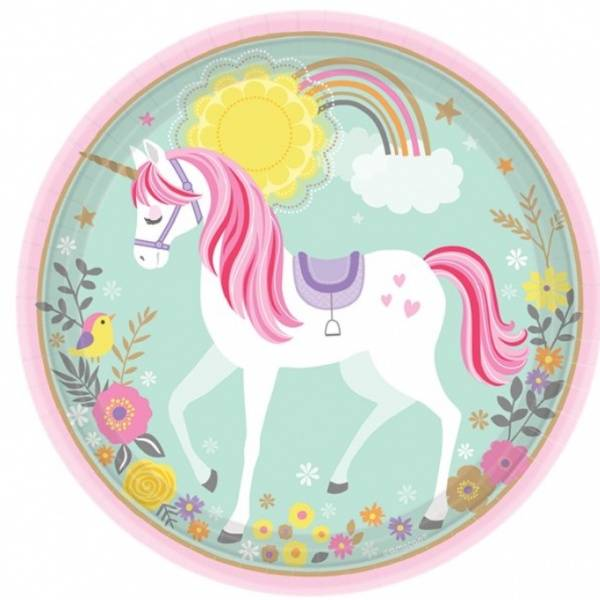 Bilde av Magical Unicorn, Tallerkener 8 stk.