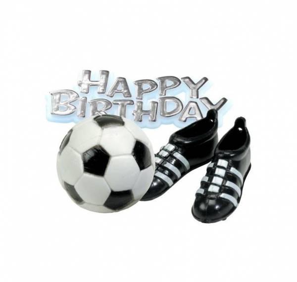 Bilde av Fotball Kakepynt; Fotball, Sko og Happy Birthday