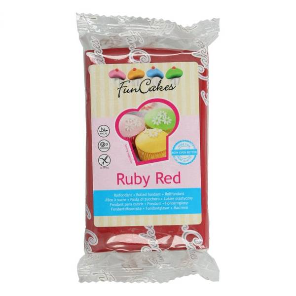 Bilde av Sukkerpasta, Ruby Red, 250g