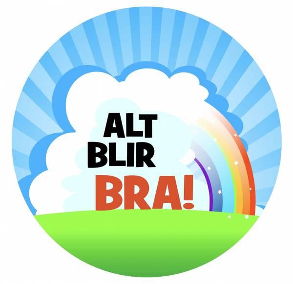 Bilde av Alt Blir Bra, Kakebilde, Sukkerpapir, 20 cm
