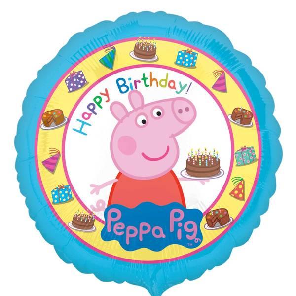 Bilde av Peppa Gris, Folieballong, Happy Birthday