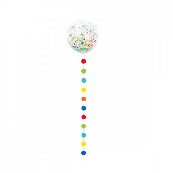 Bilde av Giga Ballongsett m/fargerik konfetti, 1 stk
