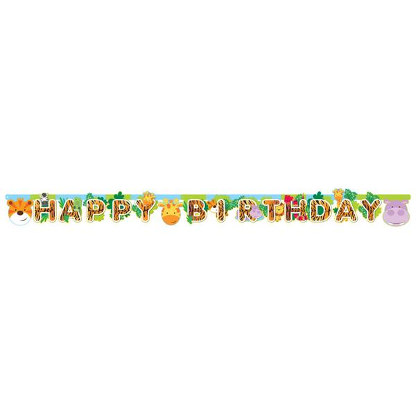 Bilde av Jungel, Happy Birthdaybanner,170*15cm