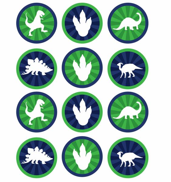 Bilde av Dinosaur, Muffinsbilder 1, 12 stk