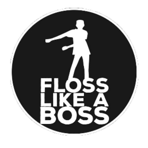 Bilde av «Floss Like a boss», Kakebilde, Sukkerpapir, 20cm