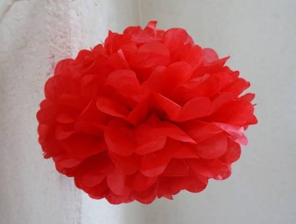 Bilde av Puff Decor, 25 cm, Rød