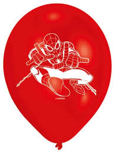 Bilde av Spiderman Ballonger 3, 6 stk