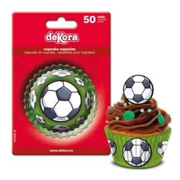 Bilde av Fotball Muffinsformer, 50 stk