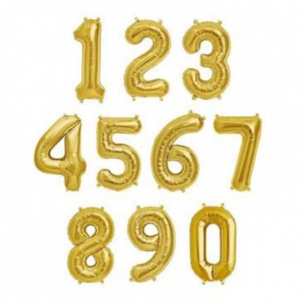 Bilde av Gullfargede Tallballonger 86 cm