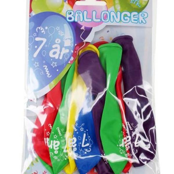 Bilde av Fargerike Ballonger  7år, 8 stk