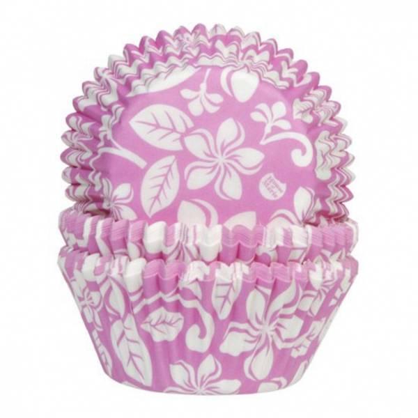Bilde av Aloha Blomster Rosa, Cupcakeformer, 50stk