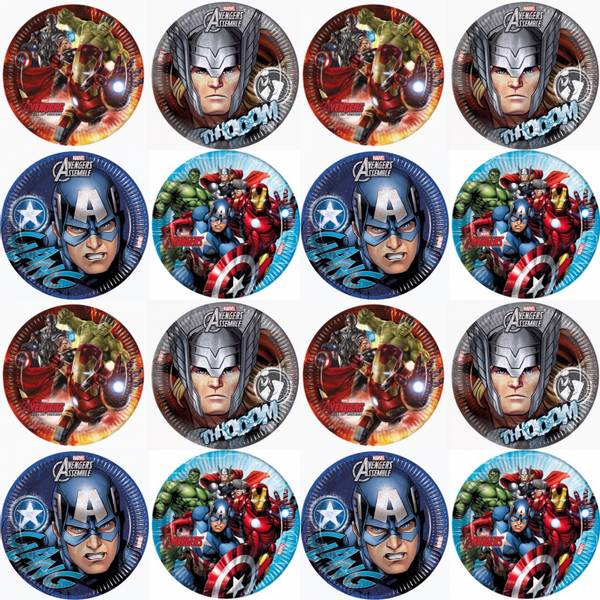 Bilde av Cupcakebilder, Avengers, 16 stk