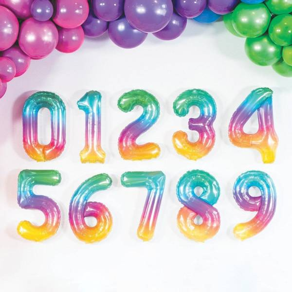 Bilde av Fargerike Tallballonger 41 cm