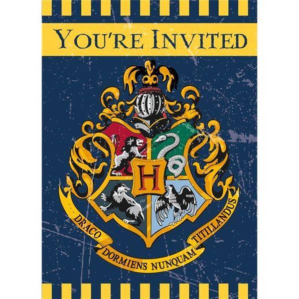 Bilde av Harry Potter, Innbydelser, 8 stk