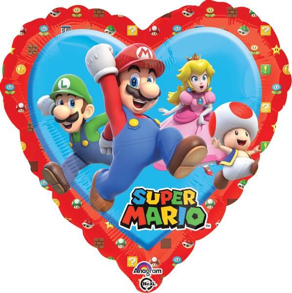 Bilde av Super Mario Hjerte Folieballong