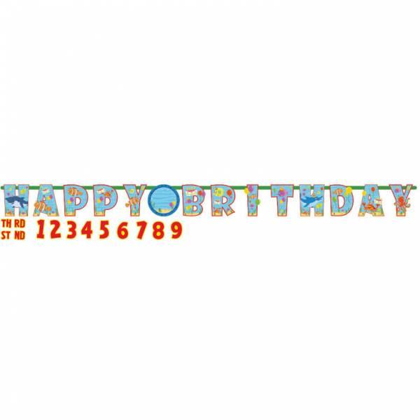 Bilde av Shark Dudutu Jumbo Happy Birthday Banner