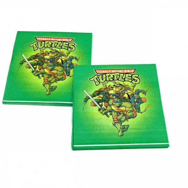 Bilde av Ninja Turtles, servietter grønn