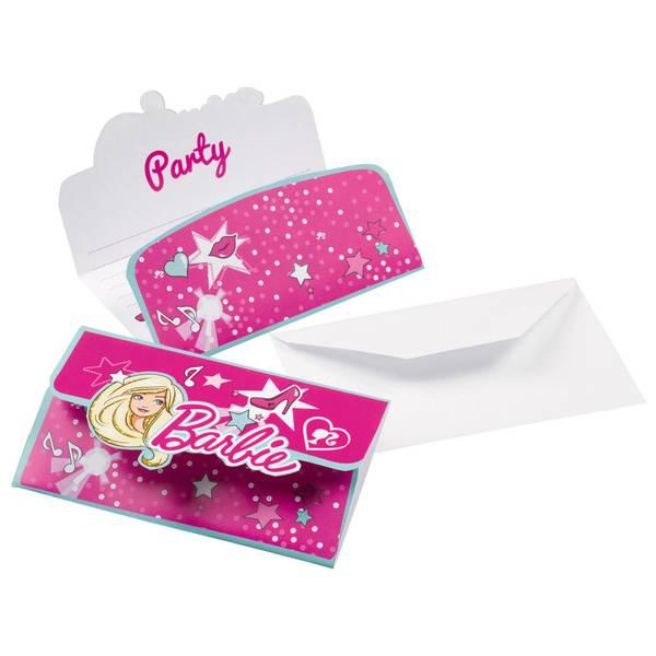 Bilde av Barbie Popstjerne, invitasjoner, 8 stk