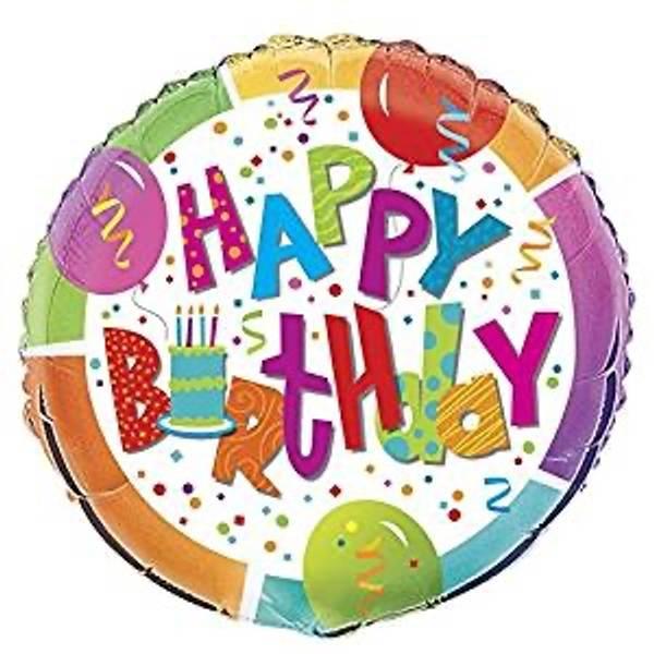 Bilde av Happy Birthday Folie Ballong