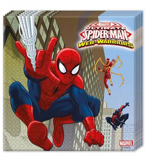 Bilde av Spiderman Webwarriors servietter, 20 stk