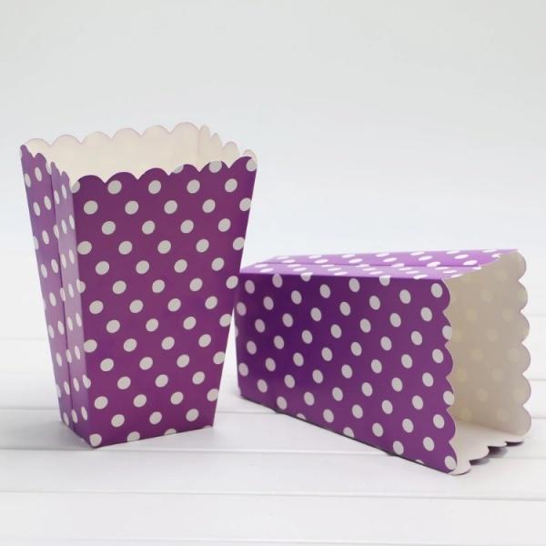 Bilde av Prikkete Lilla Popcorn/Snacks boks