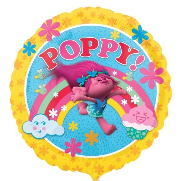 Bilde av Trolls folieballong med Poppy og regnbue, 43cm