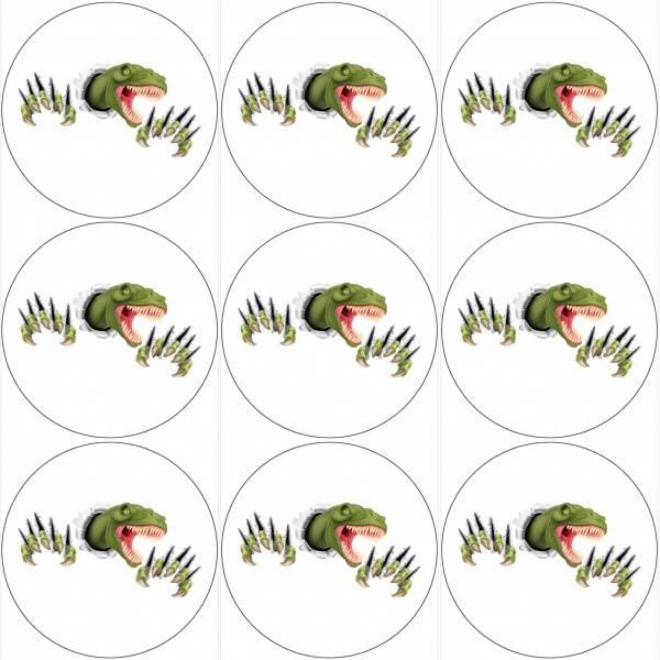 Bilde av Dinosaur, Muffinsbilder 2, 12 stk