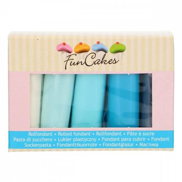 Bilde av Sukkerpasta, Multipack Blue Colour Palette 5x100g