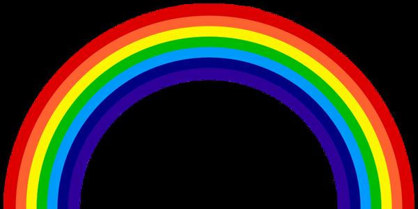 Bilde av Regnbue, Kakebilde, Sukkerpapir, A4