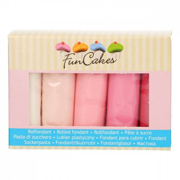 Bilde av Sukkerpasta, Multipack Pink  Colour Palette 5x100g