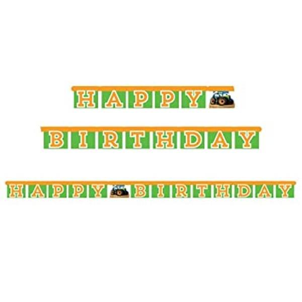 Bilde av Traktor, Happy Birthday, Banner
