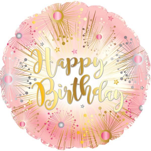 Bilde av Rosegull Happy Birthday Folieballong