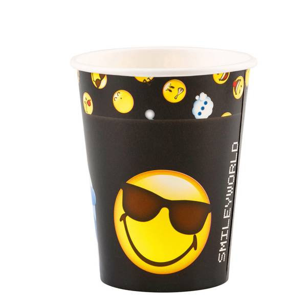 Bilde av Emoji smileyworld, Kopper 8 stk