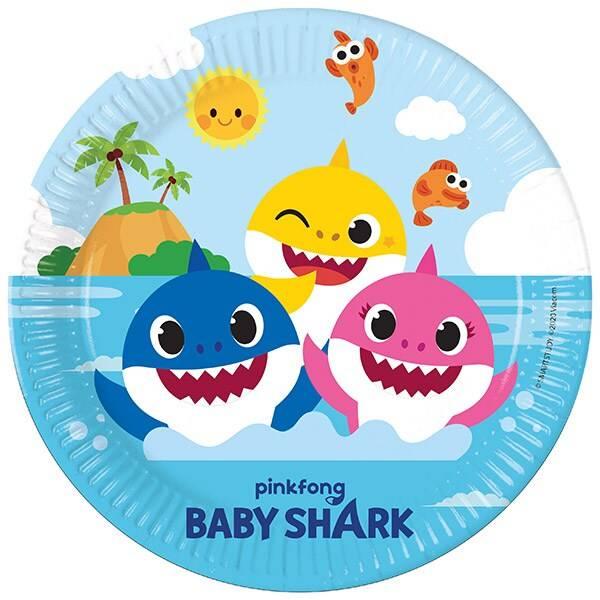 Bilde av Baby Shark, Tallerker, 8 stk