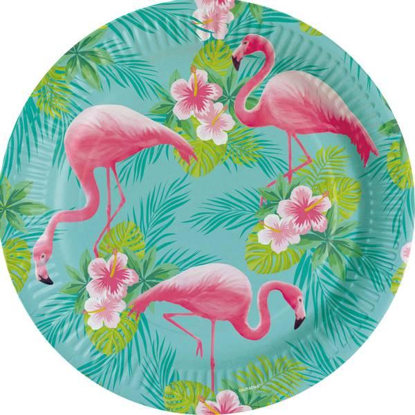 Bilde av Flamingo, Tallerken 8 stk