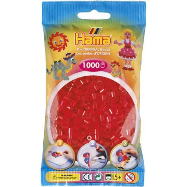 Bilde av Hama Midi super 1000s – 13 Transparent Rød