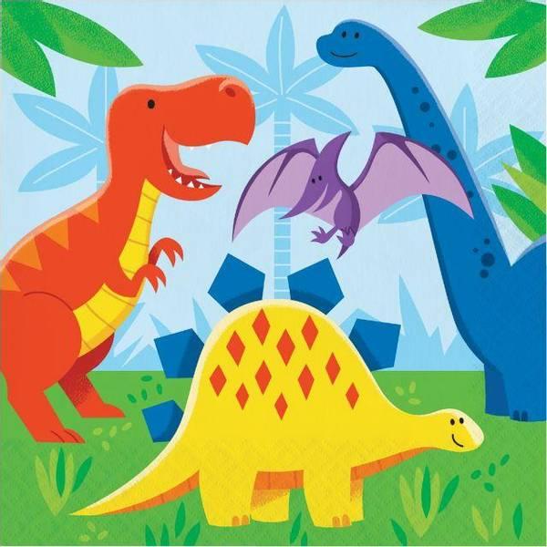 Bilde av Dinosaur Venner Servietter, 16 stk.