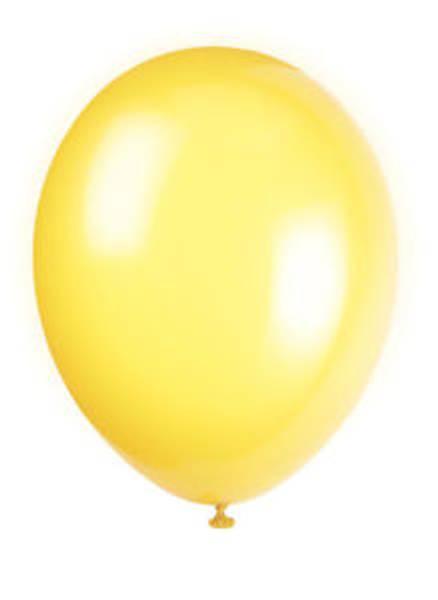 Bilde av Sitrongule Ballonger, 10 stk