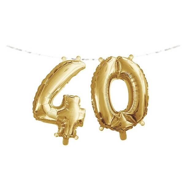 Bilde av Gull, Folieballongbanner, 40 År