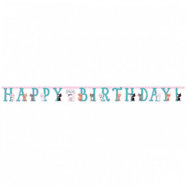 Bilde av Pusefest, Happy Birthday Banner