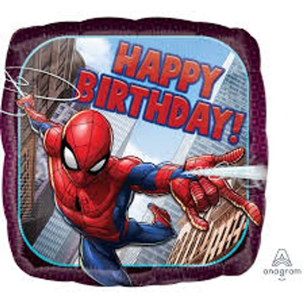 Bilde av Spiderman, Happy Birthday Folieballong