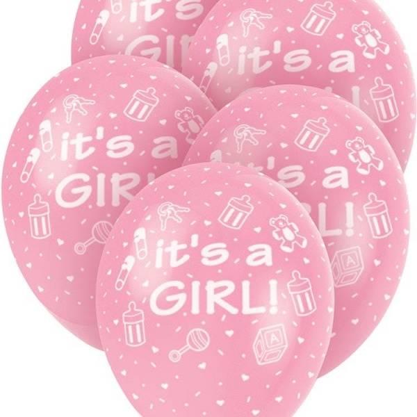 Bilde av Its a Girl, Ballonger, 5 stk