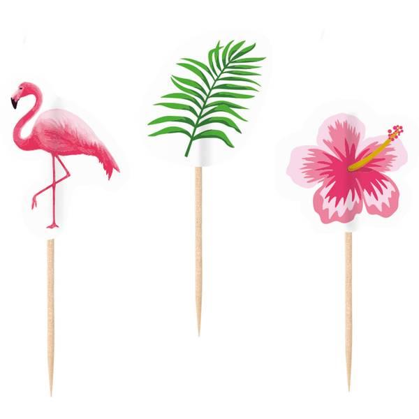 Bilde av Flamingo, Cupcaketoppers 20 stk