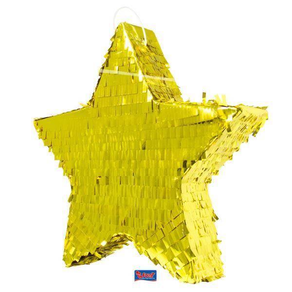 Bilde av Pinata - Stjerne - Folie, Gull
